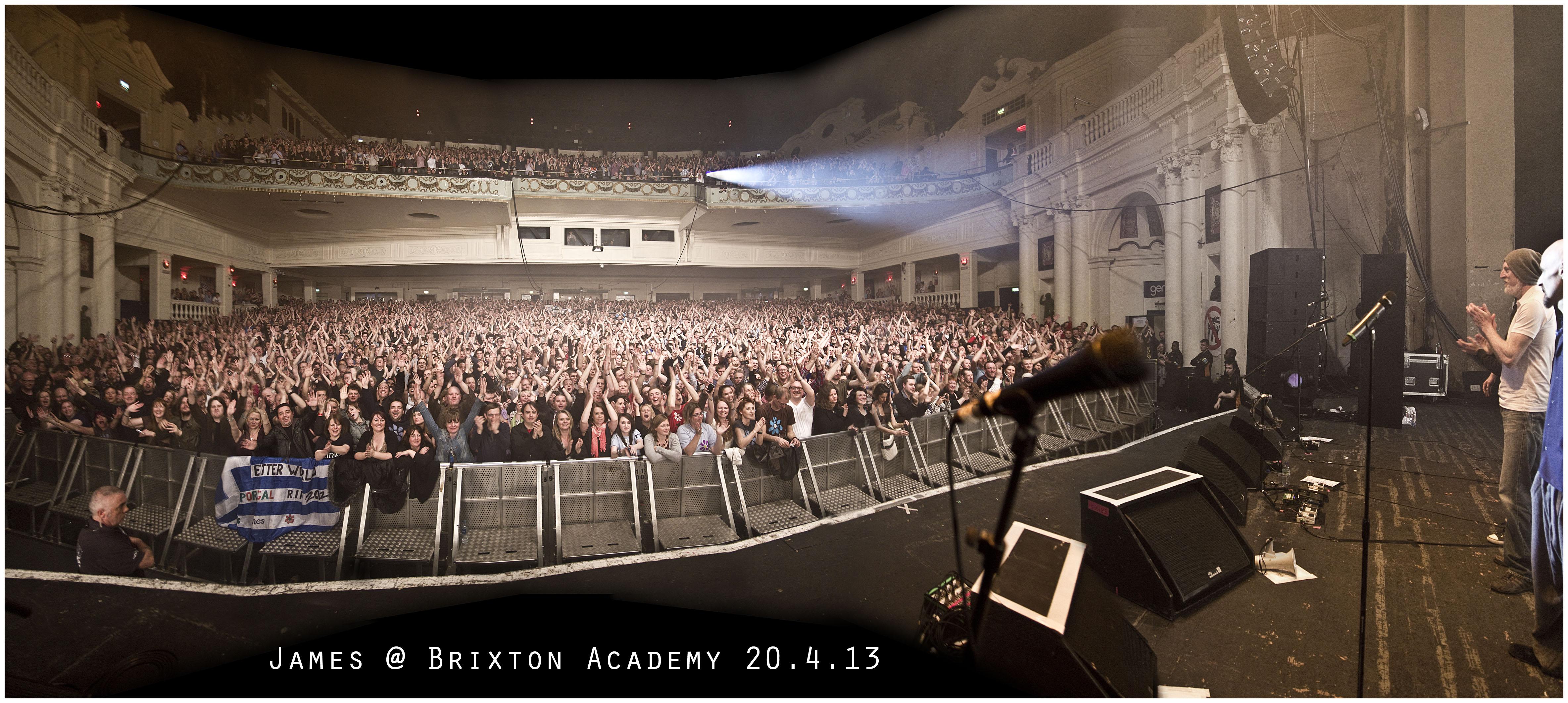 Brixton academy ii james for 02 academy balcony
